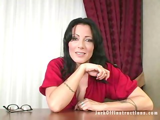 super milf boss makes you stroke your dick