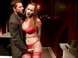 naughty redheaded generalized takes bondaged together with banged
