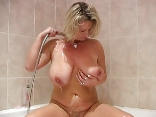 Bathroom Big Tits  Mom Natural