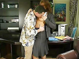 Amateur  Mom Office Old and Young Russian Secretary