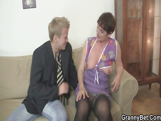 ma spreads her feet for hard cock