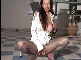 Amazing Masturbating  Pantyhose
