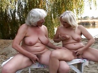 lovely dike grannies fervent grotto fun outside