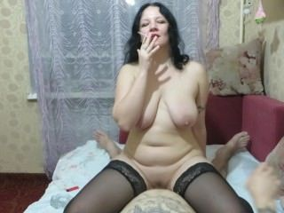 Amateur Big Tits Homemade Mature Mom Natural Riding Russian  Smoking Stockings