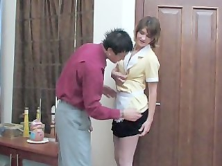 Amateur Maid  Mom Old and Young Russian Uniform