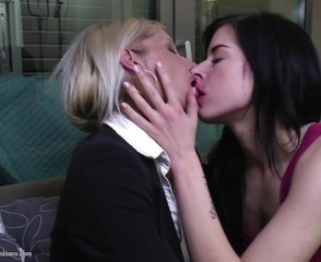 Kissing Lesbian Mom Old and Young