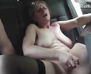 Busty czech MILF fucks hard with scalding taxi charwoman