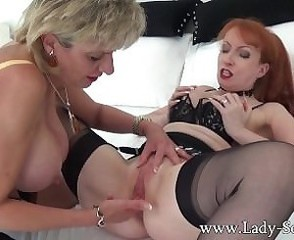 Amazing British European Fisting Lesbian Lingerie  Pornstar Stockings