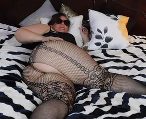 Ass Chubby Fishnet Mature Pantyhose Solo