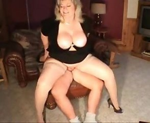 Amateur Big Tits Chubby Homemade  Natural Riding Wife