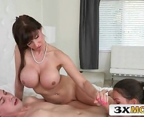 Amazing Big Tits Blowjob Daughter Family  Mom Old and Young Pornstar Silicone Tits Teen Threesome