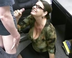 Big Tits Clothed Glasses Handjob  Office Secretary