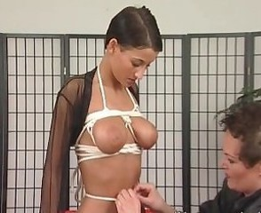 Superb slut enjoys BDSM action