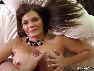 Big Tits Cumshot  Mom Old and Young Pov