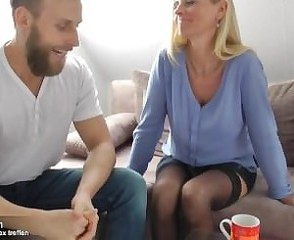 Blonde European  Mom Old and Young