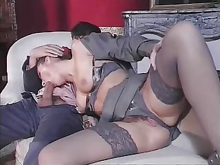 Amazing  Blowjob Clothed European Italian Lingerie  Pornstar Stockings Vintage