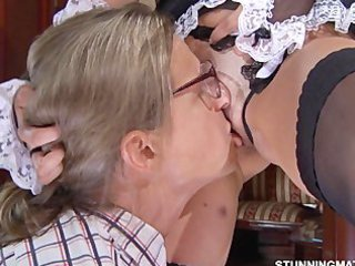 Licking Maid  Pussy Russian Shaved Uniform