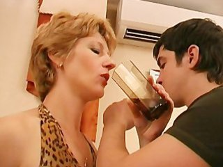 Amateur Drunk  Mom Old and Young Russian