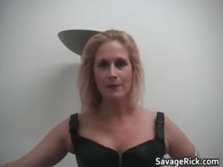 sexy darksome leather blond mother i hottie receives part10
