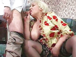 fat aged maid receives drilled
