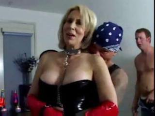 erica lauren is a short-haired blonde d like to fuck clad in leather who acquires double permeated