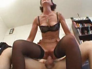 European French Hardcore Mature Mom Old and Young Riding Skinny Stockings