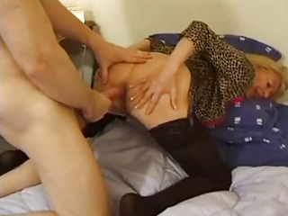 Anal Clothed Doggystyle European French Mature Mom Old and Young Stockings