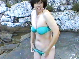 Amateur Bikini Mature Outdoor Wife