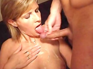 Amateur  Cumshot European French Mature Wife