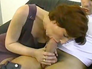 Amateur Blowjob Clothed European Mature Mom Old and Young