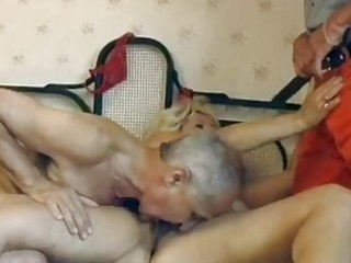 mature german golden-haired acquires double fucked