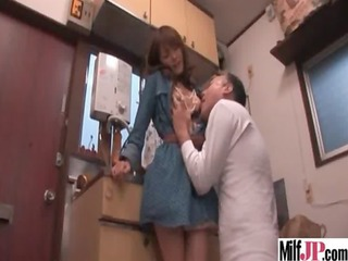 Asian Japanese Kitchen Licking  Wife