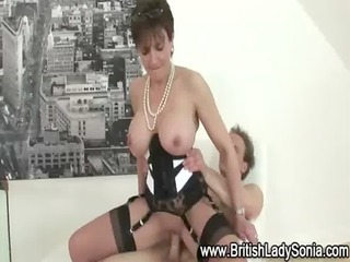 Amazing Big Tits British Corset European Lingerie  Mom Old and Young Pornstar Riding Stockings