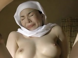 Asian Mature Nun Orgasm Strapon