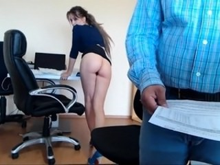Amateur Amazing Ass MILF Office Secretary Strapon