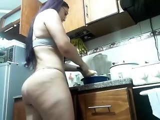 Amazing Ass Girlfriend Kitchen Long hair Strapon Webcam
