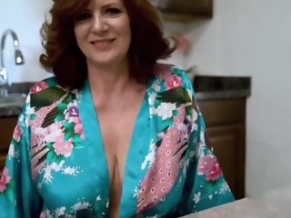 Big Tits Kitchen Mature Mom Strapon