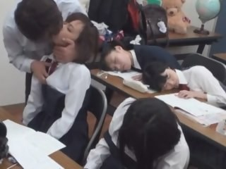 Asian Japanese Kissing School Sleeping Strapon Student Teen Uniform Young