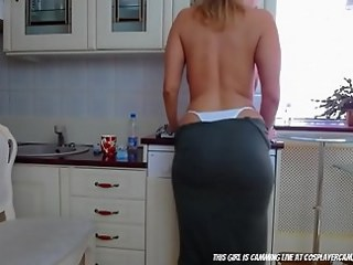 Ass Kitchen MILF Strapon Stripper