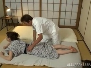 Asian Japanese Massage MILF Strapon Wife