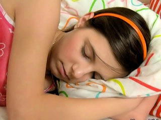 Brunette Sleeping Strapon Teen Young