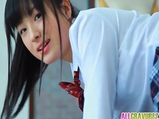 Asian Brunette Japanese Strapon Student Teen Uniform Young