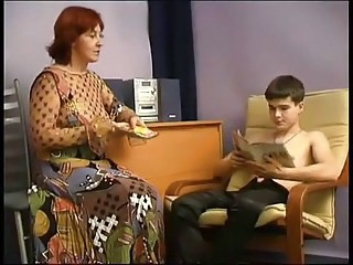 Amateur Mature Mom Old and Young Redhead Russian Strapon