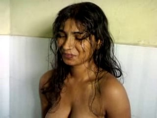 Amateur Bathroom Homemade Indian MILF Showers Strapon