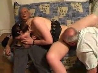 Amateur Blowjob Daddy Licking Old and Young Strapon Teen Threesome Young