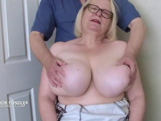 Big Tits Blonde Glasses Mature Mom Strapon