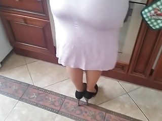 Ass Kitchen Mature Strapon Wife