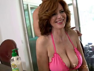 Amazing Big Tits MILF Pornstar Strapon