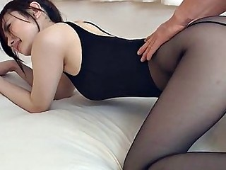 Asian Babe Cute Pantyhose Strapon Uniform