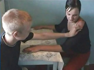 Amateur Homemade Kitchen Russian Sister Strapon